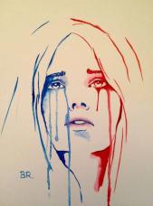 Marianne en pleurs par Benjamin Régnier