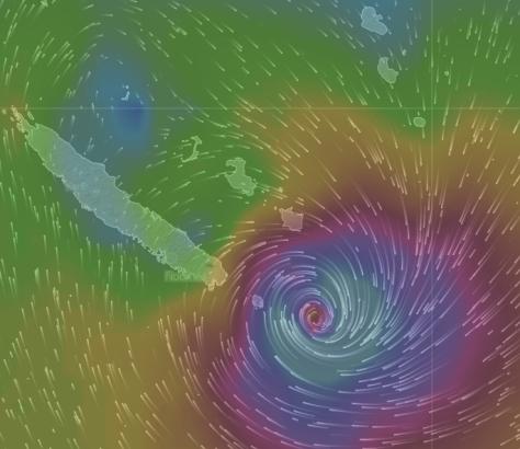 """""""ULA"""" passe à l'est de l'Ile des Pins vers 21h puis s""""évacue dans le sud"""