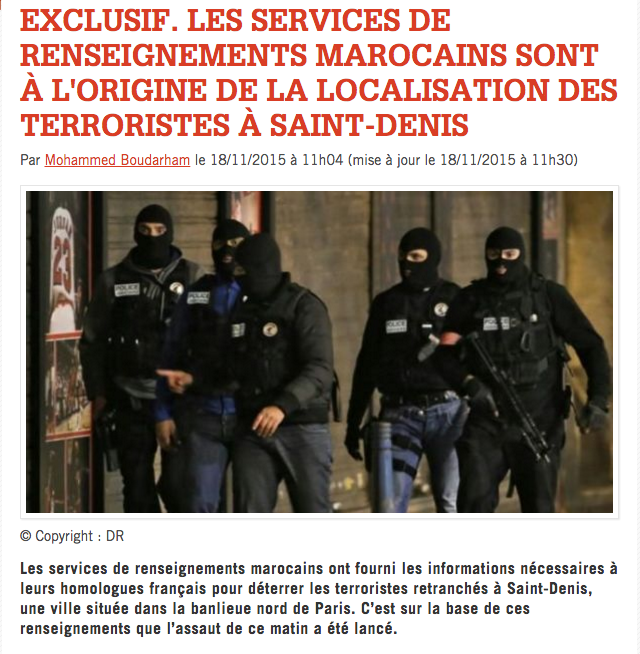 LUTTE CONTRE LES TERRORISTES : L'EXEMPLE MAROCAIN