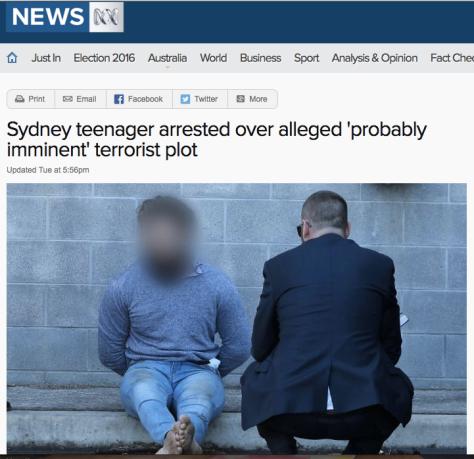 Dihadiste arrêté à Sydney à 20.51.44