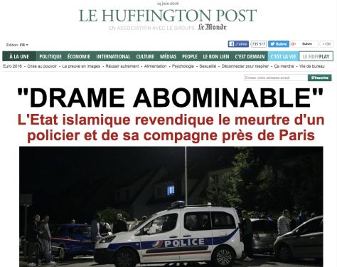 Huffington Post meurtre d'un policier