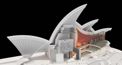 Les travaux de l'Opéra de Sydney - photo extraite de Voila Sydney