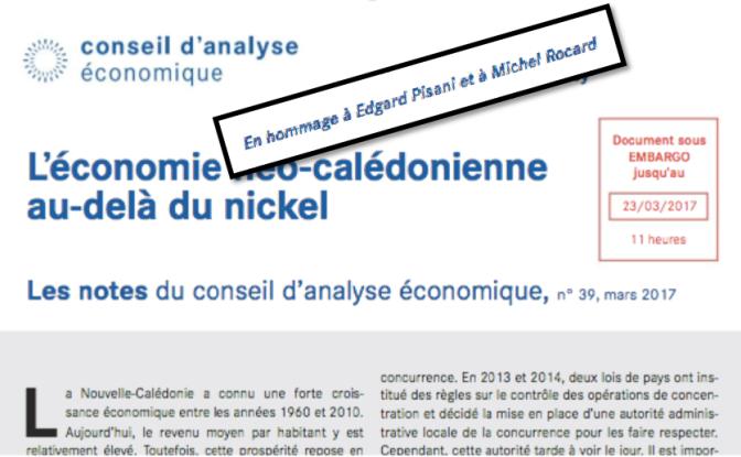 LES NOTES DU CONSEIL D'ANALYSE ECONOMIQUE SUR L'APRÈS-NICKEL: « EN HOMMAGE À EDGARD PISANI » … – Désindexation, augmentation de l'impôt sur le revenu, diminution des transferts vers les collectivités