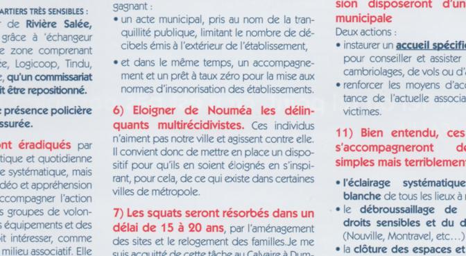 GABY BRIAULT DEMANDE L'ÉLOIGNEMENT DES DÉLINQUANTS DE QUARTIERS OU DE LA VILLE