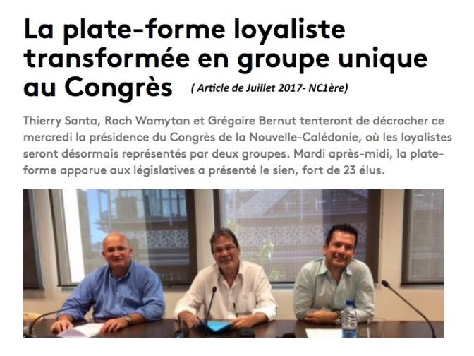 POLITIQUE : UNE «PLATE-FORME» QUI PREND L'EAU