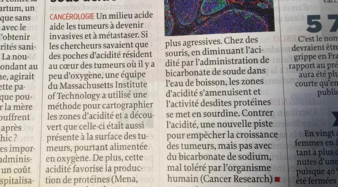 L'ALCALINITÉ DU CORPS CONTRE LE CANCER